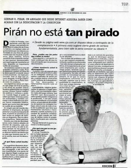piran no esta tan pirado